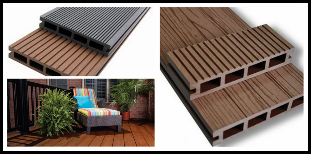 140*22 mm wood plastic composite decking floor co-extruded wpc board plastic coated timber