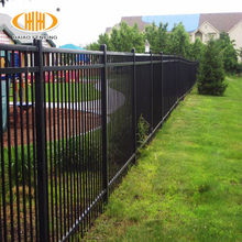 Security villa decorative wall boundary welded steel fence