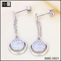 New Arrival 925 Sterling Silver Earrings Free Sample Handmade Silver Jewellery