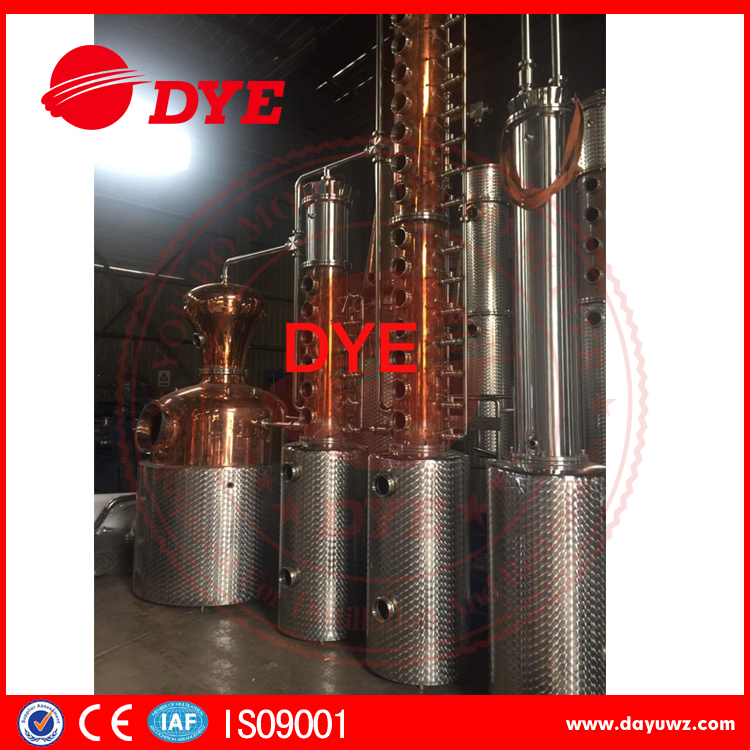 600L Whiskey distillery equipment distillation column brand your own vodka