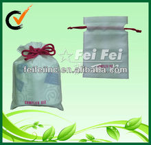 White Cheap Small 80gsm PP Nonwoven Fabric Drawstring Promotional Gift Bags