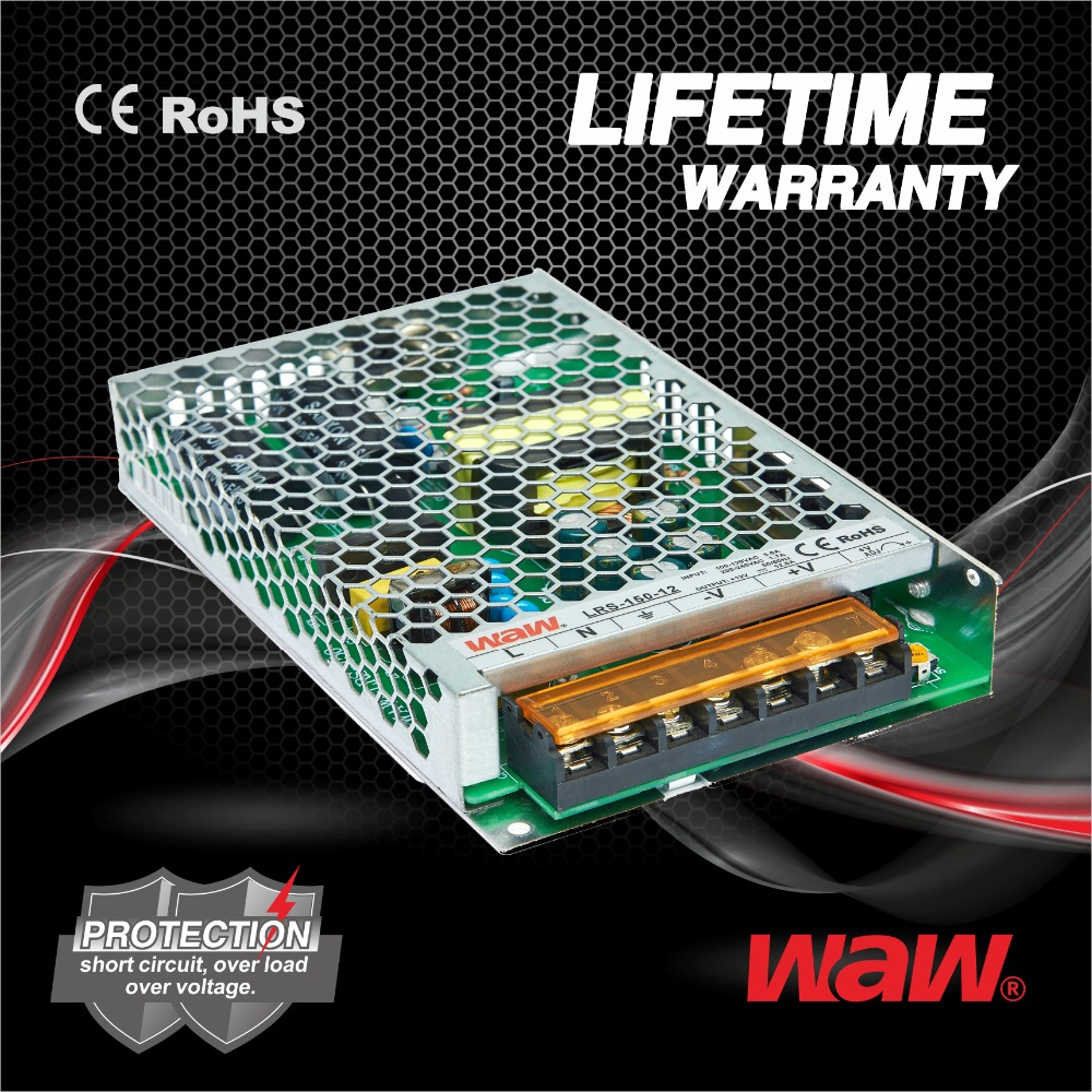 LIFETIME WARRANTY 24V 6.25A 150W LRS-150-24 DC Switching Power <strong>Supply</strong> LED power <strong>supply</strong>