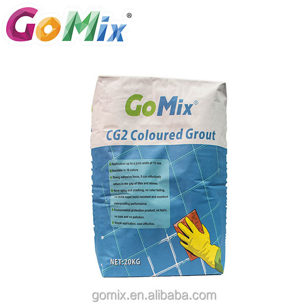 Non-shrink waterproof colored exterior joint filling ceramic tiles caulking