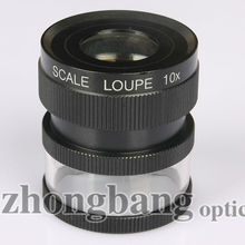 zhongbang scale loupe 10 times magnifying glass for printing