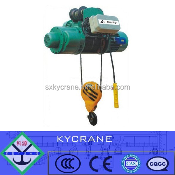 wireless wire rope electric remote control crane hoist