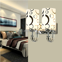 Stripe glass cover led swing arm wall lighting fixture