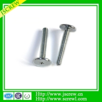 White zinc plated galvanized thin head furniture bolts screws and anchor bolts