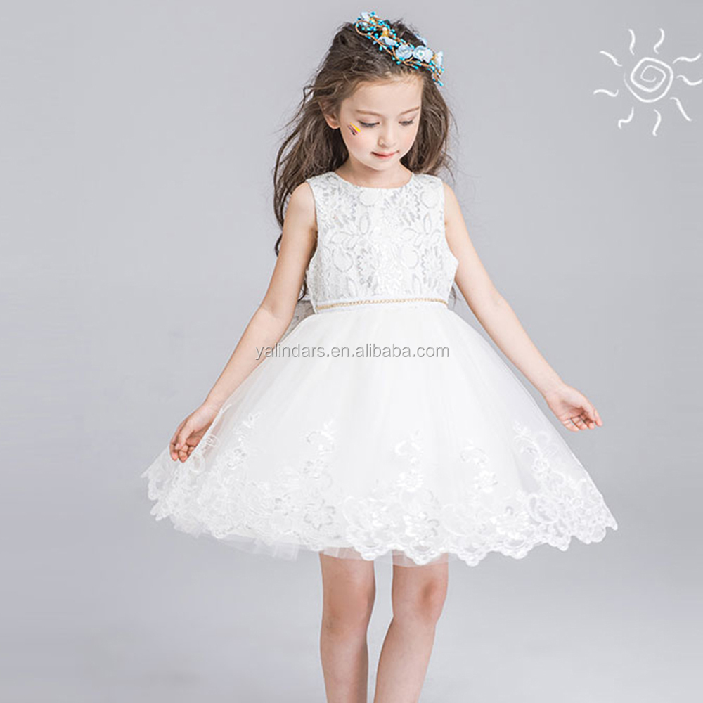 fashion new model girl western party wear dress flower girl dresses patterns wholesale