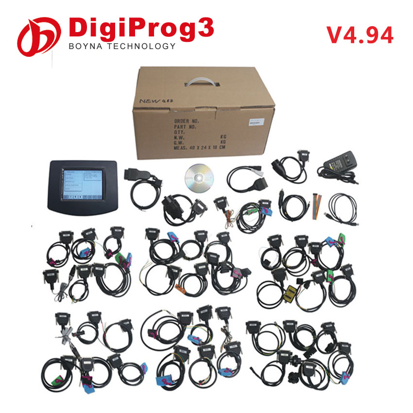 2017 top quality Auto Mileage Programmer digiprog 3 v4.94 car with full set digiprog3 Odometer programmer