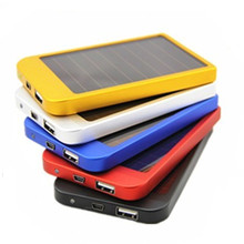 PowerGreen Portable 2600mAh Solar Cell Phone Charger 5V 1A Slim Power Bank for Phone
