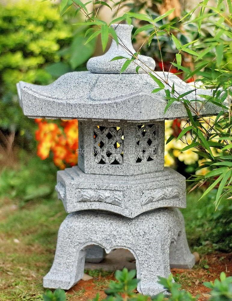 Garden decor granite chinese japanese stone lantern buy japanese stone lantern lantern stone - Garden stone decorations ...