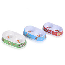 Loveyly cute double diner with print pet melamine bowl