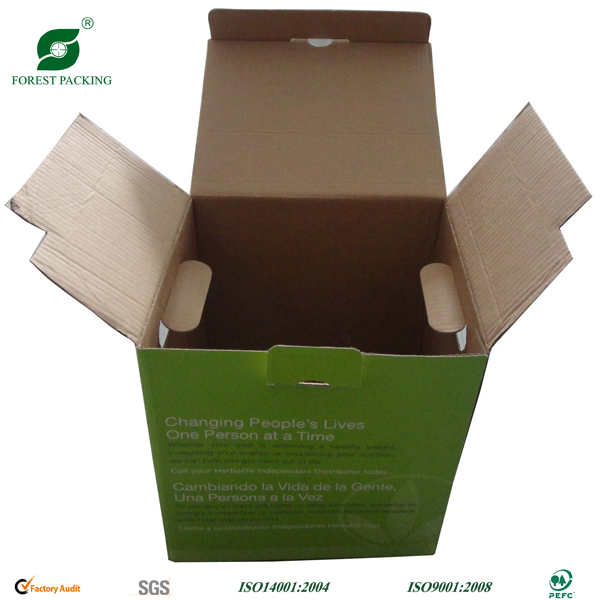 CARDBOARD BOX WITH HAND HOLE