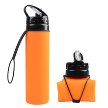 China Suppliers 2019 New Product Wholesale Food Grade Silicone Bpa Free Eco Friendly <strong>Sports</strong> Collapsible Water Bottle