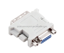 China DVI to VGA/SVGA Converter Adapter - DVI-D Dual Link 24+5 pin Male to HD15 Female