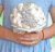 Bride holding bouquet for wedding party, wedding supplies