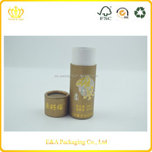 Custom design printing round shaped facial oil tube box packaging, glass bottle round tube box