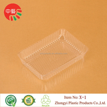 2017 Good Sale Disposable Blister Rectangular Transparent Food Tray X-1