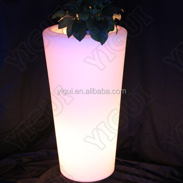 mood light glowing vase, & lighted outdoor flower pots