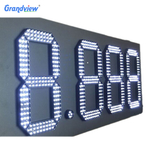 6 inch numbers display digital 7 segment led display for gas station