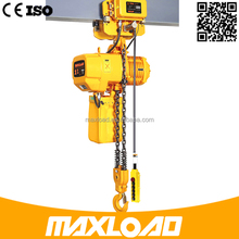 Maxload Monorail Beam Electric Lifting Crane Hoist Manufacturer With CE Certificate 1 Phase Hook Suspension