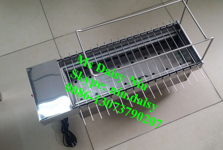 stainless steel charcoal BBQ grills/bbq grill with skewers/rotary charcoal grill