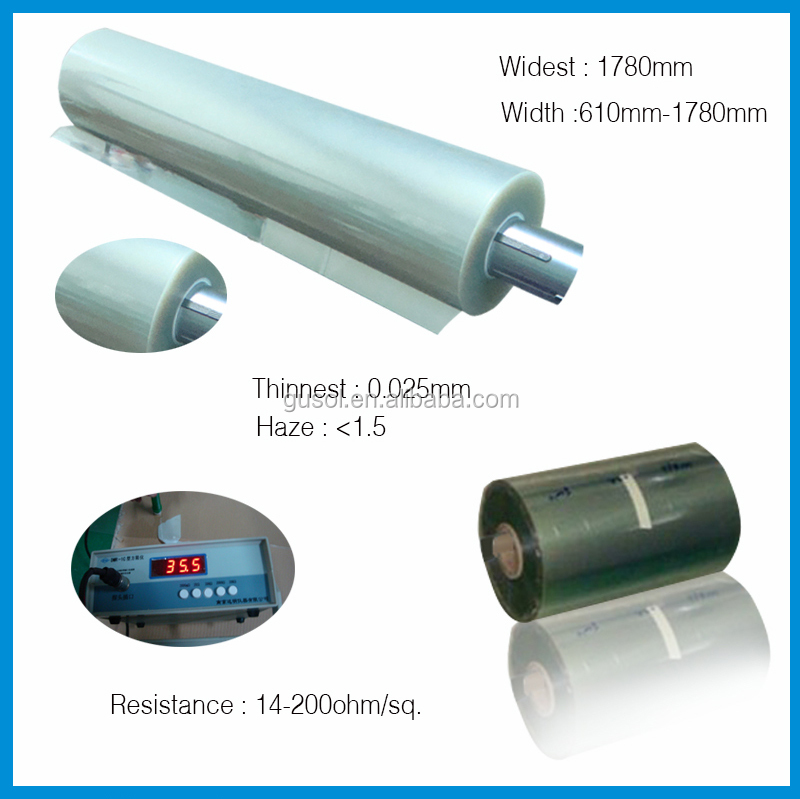 best factory 1220mm width transparent electric heating ito film