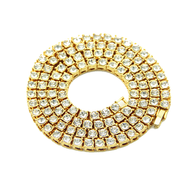 Hiphop <strong>Jewelry</strong> Iced out Alloy Pave Crystal Chain <strong>Jewelry</strong> Gold Plated Wholesale For Mens