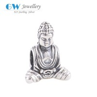 Religion Vintage 925 Silver Hot Sale Bracelet Jewelry Accessories Custom Made Buddha Charms Wholesale