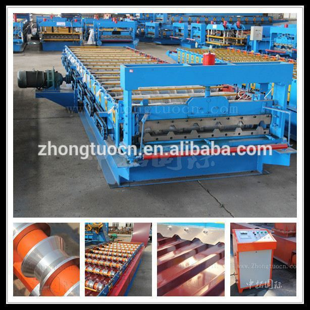 High quality aluminum sheet making machine/zinc roofing roll forming machine