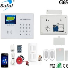 Saful 315MHz or 433MHz wireless digital home security fire alarm system for Smart Home