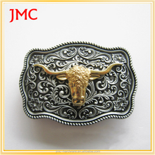 vintage custom metal western cowboy bull head belt buckles for sale