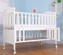 New style multifunctional pine wood swing cot new born baby crib extender child bed no idle
