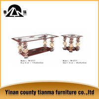 New style square shape modern tempered glass coffee table