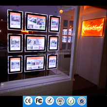 2017 New Cable Real Estate A3 A4 Led Window <strong>Sign</strong> Poster Frame Displays