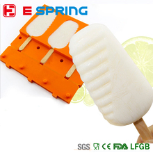 Quality Baking Supplies 3 Cavities Rectangle Oval Shaped Silicone Chocolate Ice Cream Popsicle Molds Cake Pop Mould