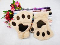 Lovely animal plush gloves stuffed animal paw glove