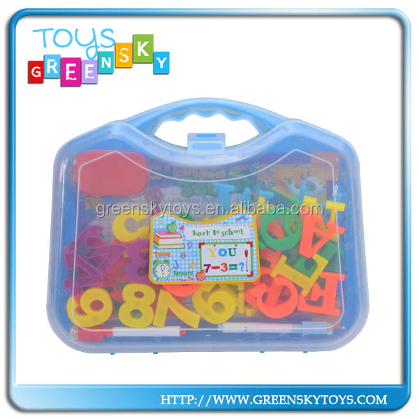 Plastic colorful magnetic letters and number toys for children