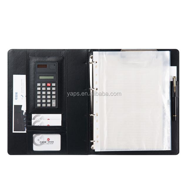 Portfolio Premium Padfolio Case Folder with Zippered Closure PU Leather PLUS Writing Pad & Calculator And Interior 10.1 Inch Tab
