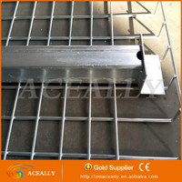 Mild welded steel wire mesh shelves decking for pallet racking system