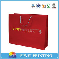 wholesale packaging custom logo printed strawberry gift paper bag