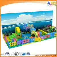 Kids soft play Items indoor sand pit kids toys play area with big slides