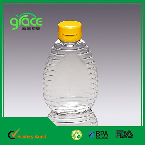pet plastic <strong>bottle</strong> for honey oil packing yellow flip cap <strong>bottle</strong>