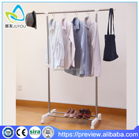 Home furniture stainless steel single pole clothes hanging stand