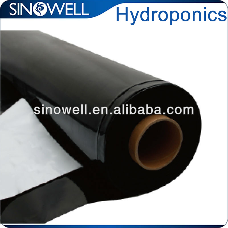 Black and white poly film