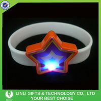 Star Shape Silicone Wristbands LED Light