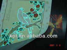 Advertisement paper light thin electroluminescent EL wire