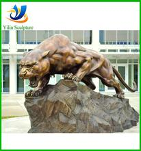 New product bronze life size panther statue for home decoration