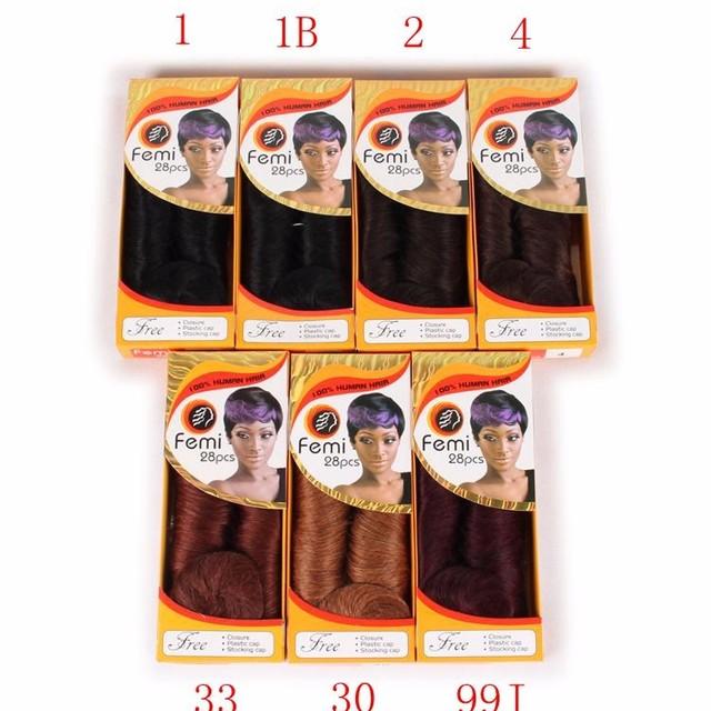 27 28 piece femi hair collection, 100% human hair, cheap hair weaving
