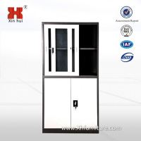 Half Glass Door Low Price Small Glass Display Cabinet Design For Dubai Kuwait Saudi Europe Metal Furniture Market